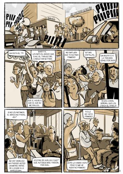 Pagina 5 del cómic CHORIZOS, Atraco a la española, un fiel reflejo de la crisis que sufre España
