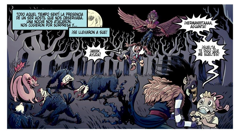 En Viaje a Xambala podras encontrar cómics con batallas por mundos fantasticos