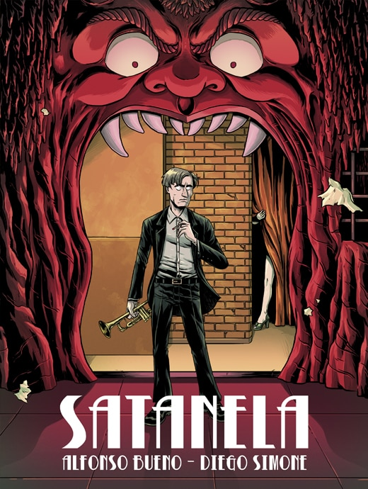 Portada de Satanela, un cómic de ocultismo y terror en 1920