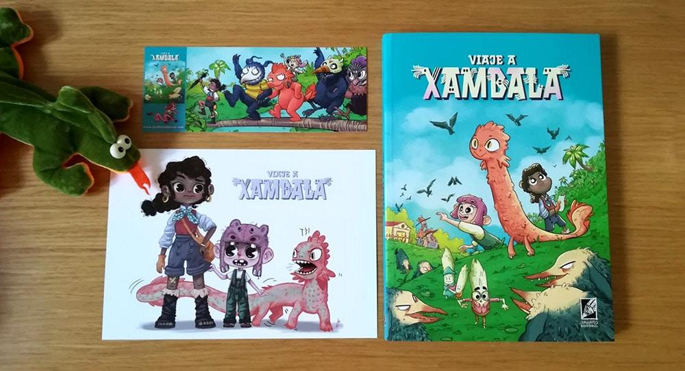 Con el cómic Viaje a Xambala vienen 2 regalos