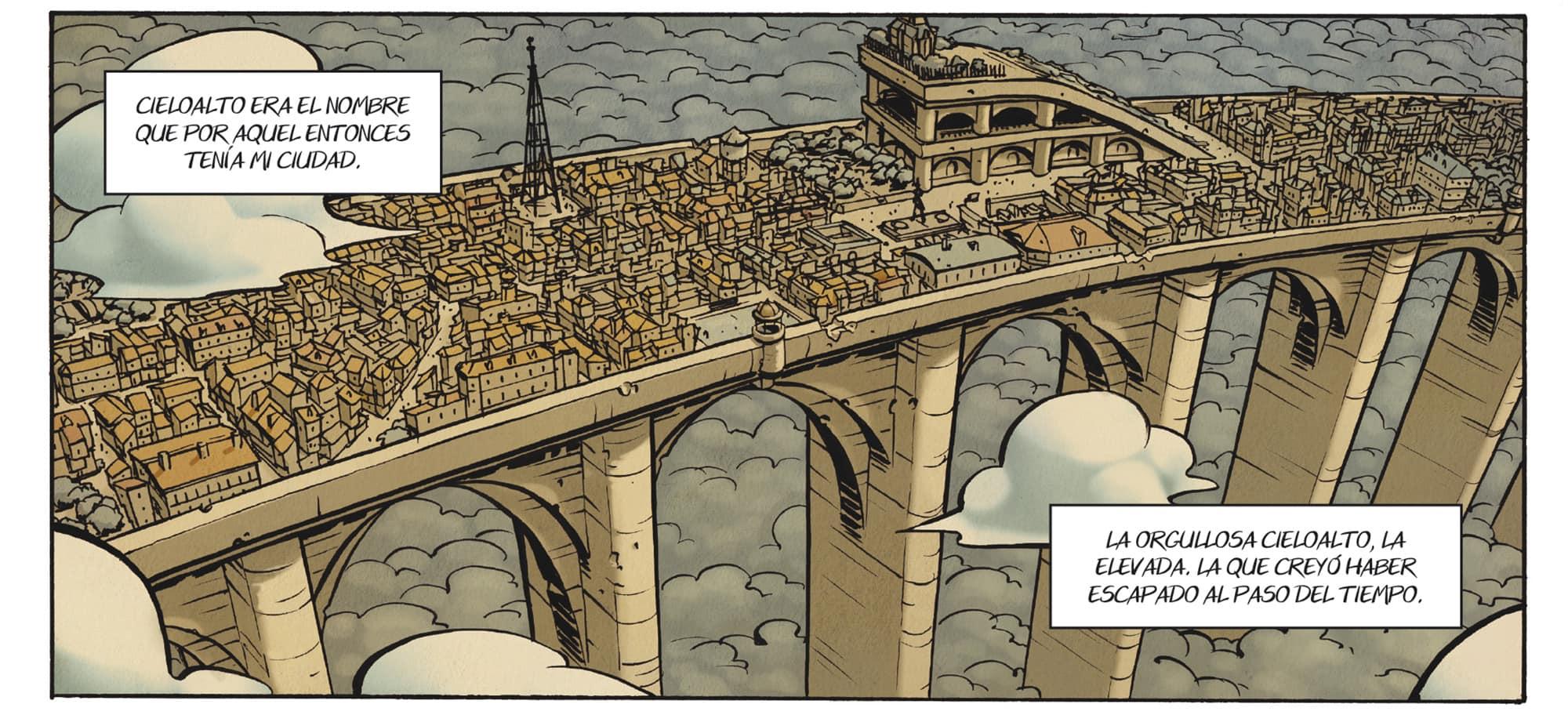 La ciudad de Cieloalto, el gran puente interminable