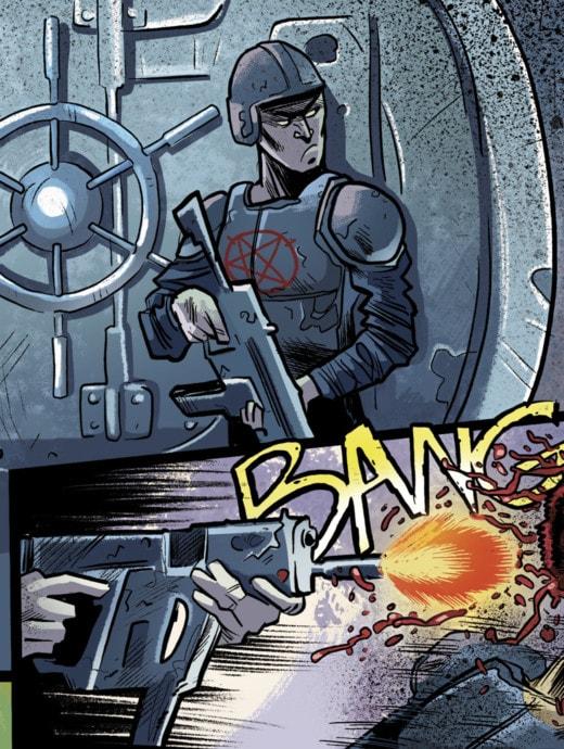 La magia y las armas de gran calibtre se mezclan en el cómic Balas de punta hueca
