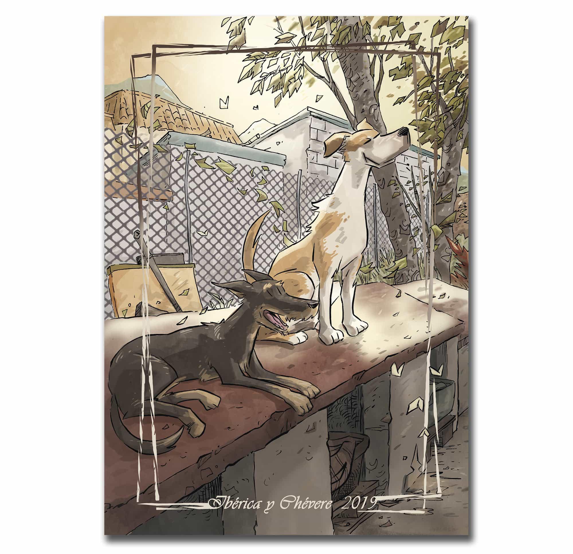 Lámina de Refugio, el cómic de Jose Fonollosa sobre una protectora de animales