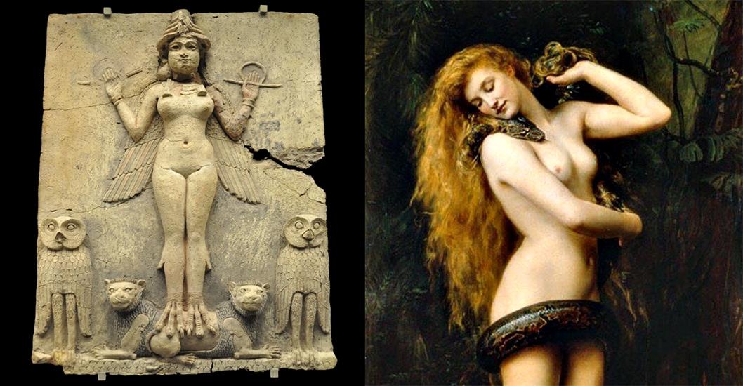 la primera súcubo fue Lilith, que los hebreos adoptaron de la mitología mesopotámica