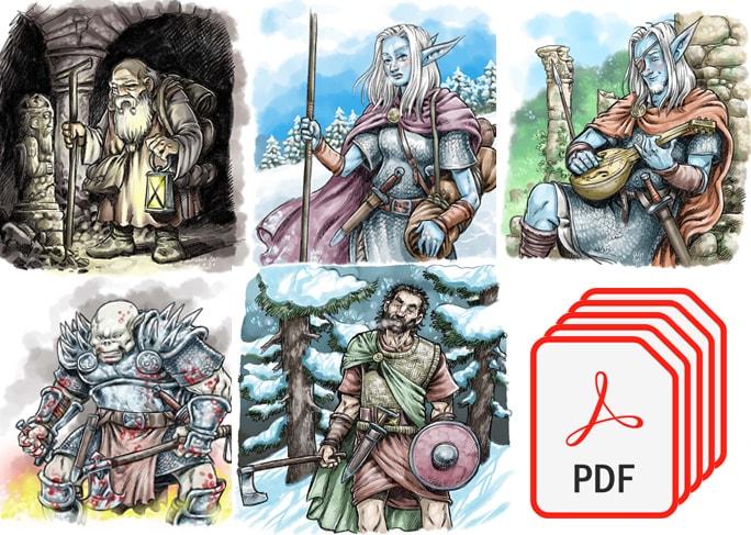 fichas descargables rol PDF