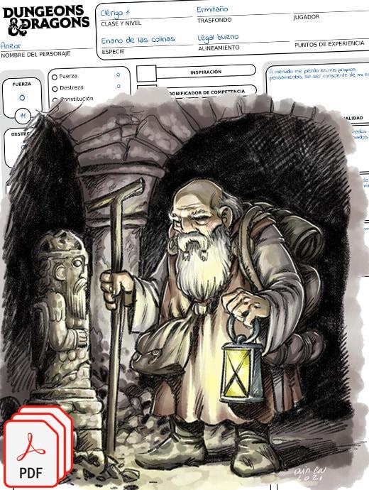 fichas rol dungeons pathfinder pdf descargar gratis