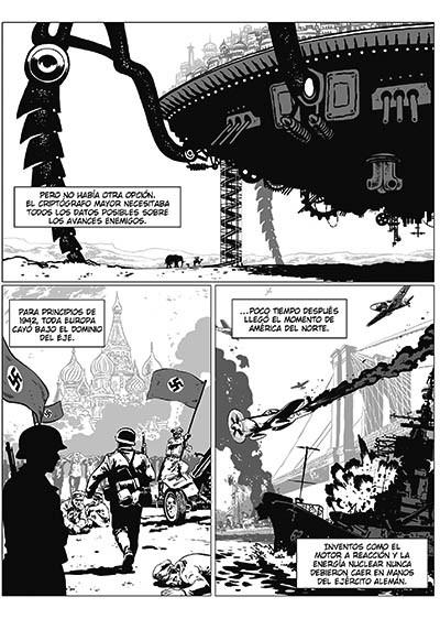 Desierto de Metal. En Africa, sabios y autómatas luchan contra la Alemania Nazi. Un cómic de Agrimbau y Baldó