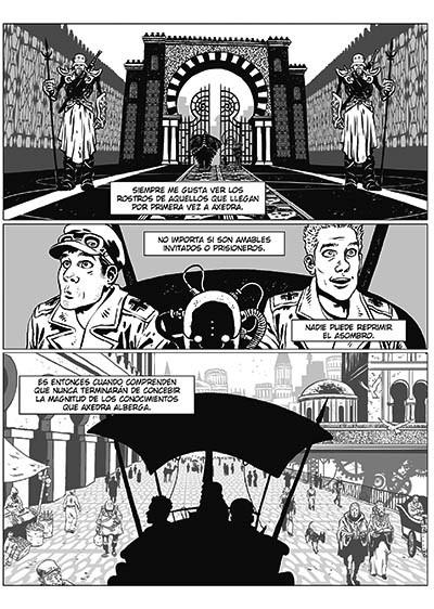 Desierto de Metal. En Axedra, ciborgs y autómatas luchan contra la Alemania Nazi. Un cómic de ciencia ficción de Agrimbau y Baldó