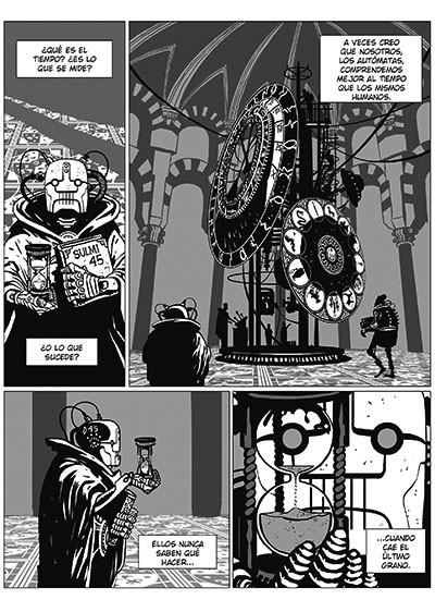 Desierto de Metal. Autómatas y robots luchan contra la Alemania Nazi. Un cómic de Agrimbau y Baldó