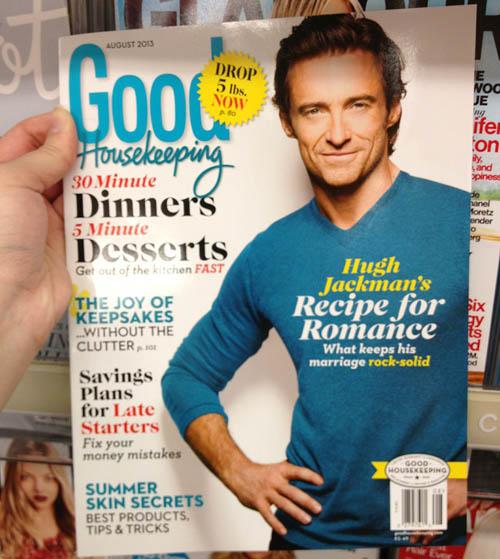 Hugh Jackman deja su aspecto de lobezno para tener una cena romantica, una cita contigo.