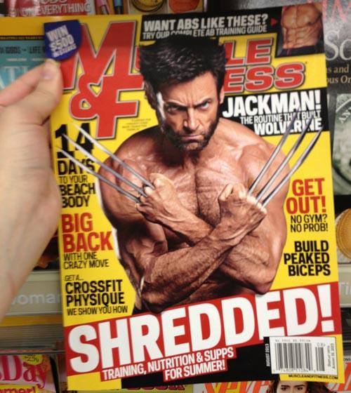 Hugh Jackman , enseñando garras y músculo a lo lobezno