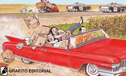 ilustración de Agustin Ferrer Casas para anunciar la presentación de su cómic CAZADOR DE SONRISAS