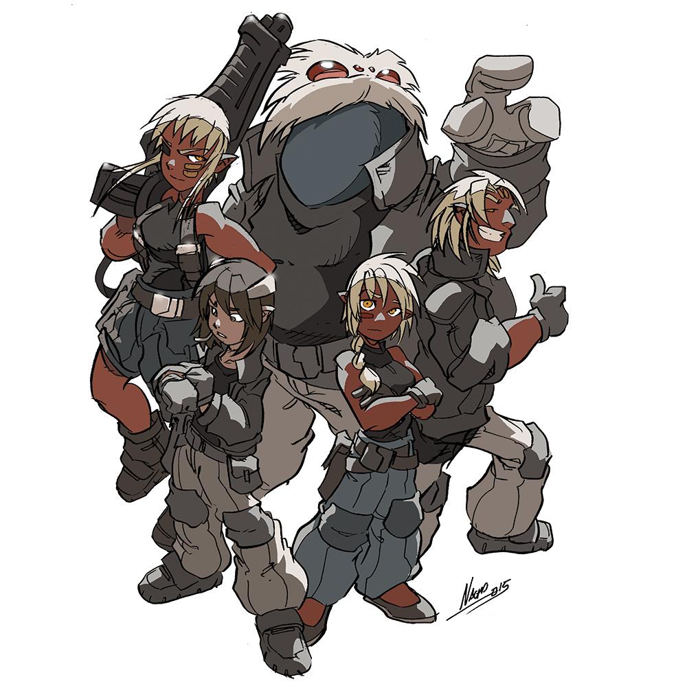 Protagonistas del cómic LOS MUNDOS DE VALKEN