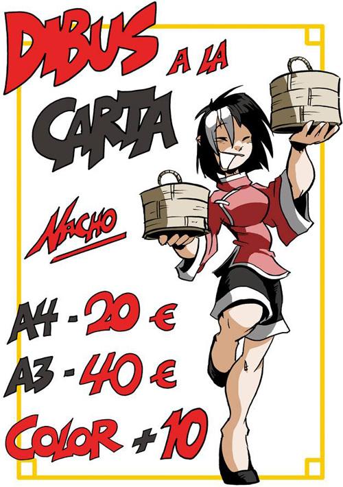 Nacho fernandez comic firmas