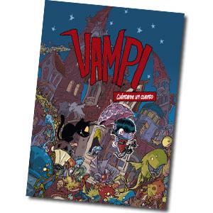 Portada de VAMPI CUENTAME UN CUENTO, nuevo comic infantil de nuestra vampira favorita de la mano de su dibujante Jose Fonollosa