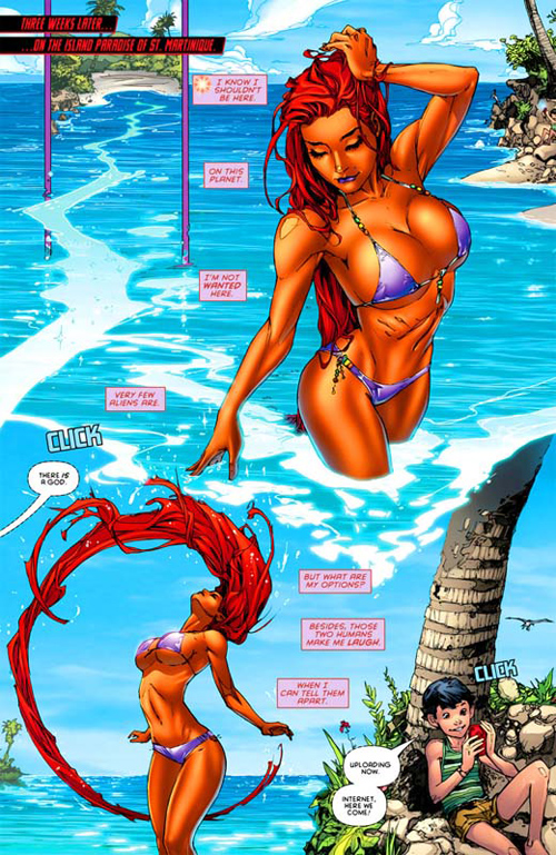 Starfire Red Hood & the Outlaws DC Cómics