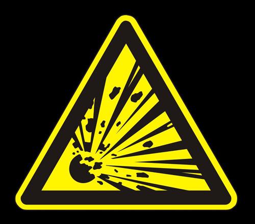 cartel de una explosión