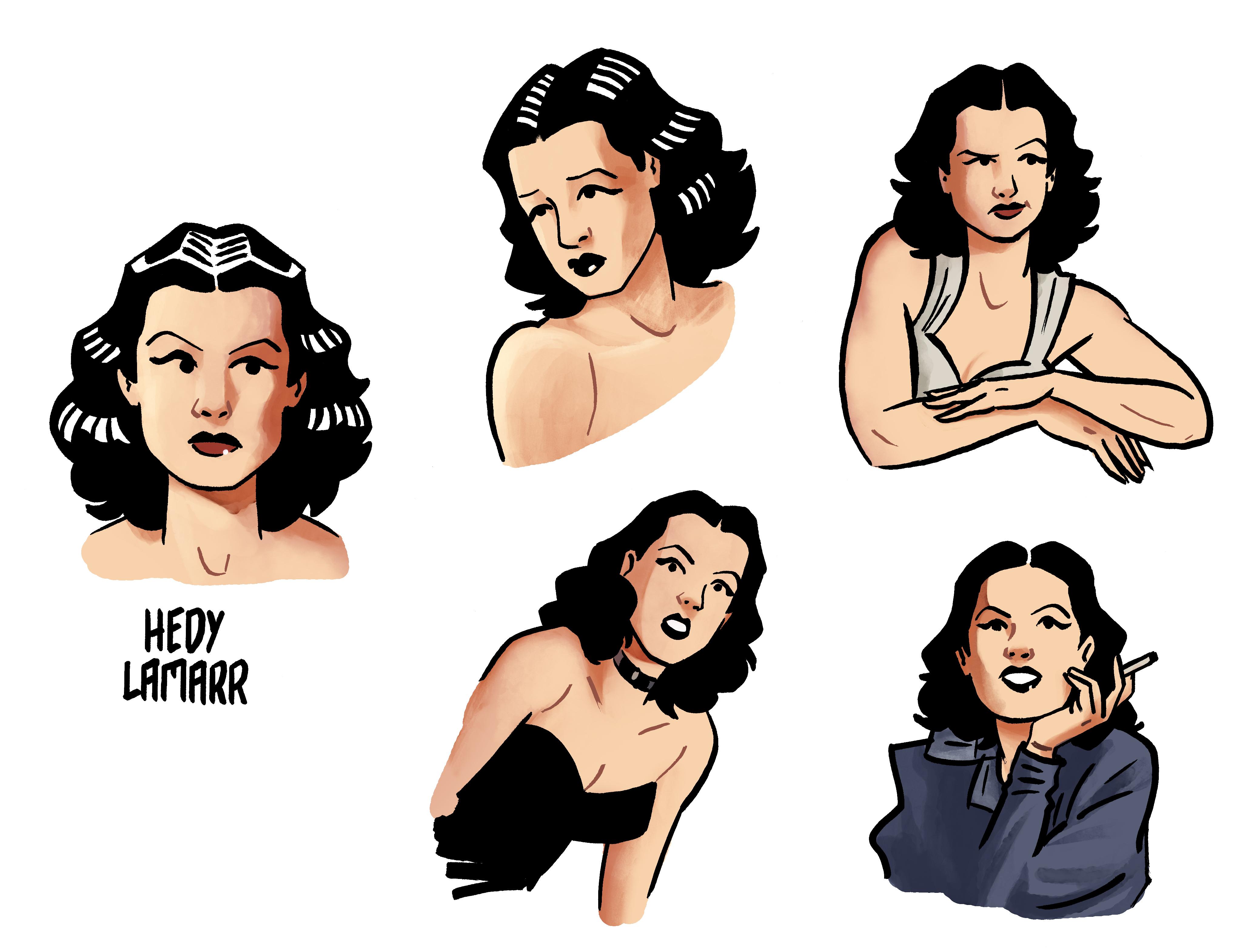 comic de espionaje sobre la biografía de Hedy Lamarr
