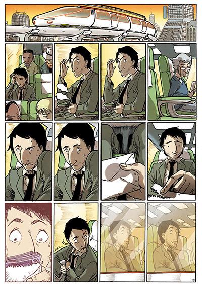 Página de Buckson, el cómic de ciencia ficción dibujado por Victor Araque