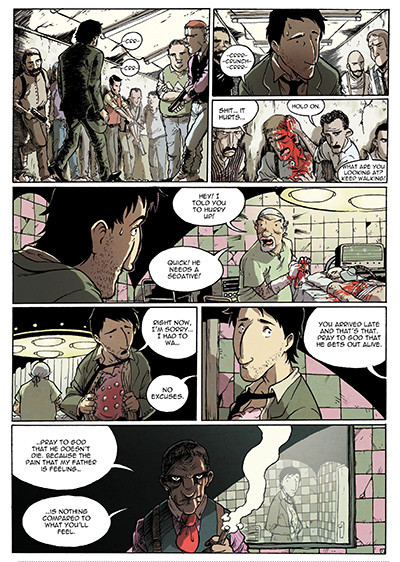 buckson es una novela grafica de Victor Araque llena de acción, un cómic que no te esperas