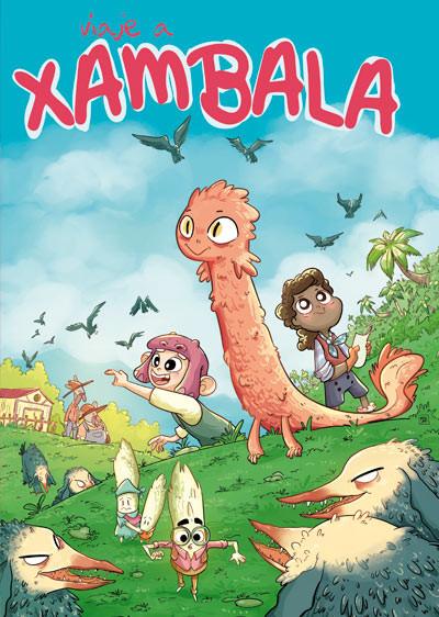 portada del cómic VIAJE A XAMBALA. Un cómic de aventuras en un mundo fantastico lleno de peligros y monstruos