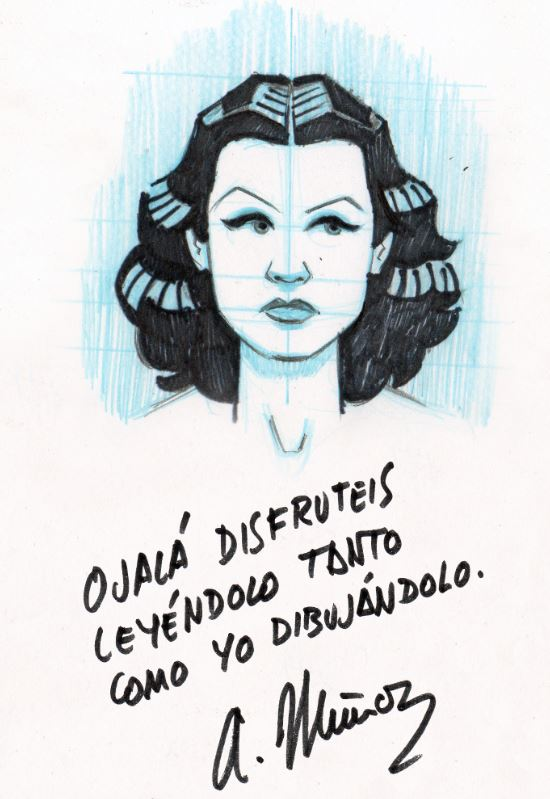 dedicatoria Hedy lAMARR COMIC