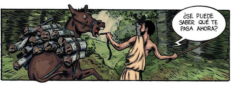 Por un puñado de Dracmas es un cómic de acción en la antigua Grecia