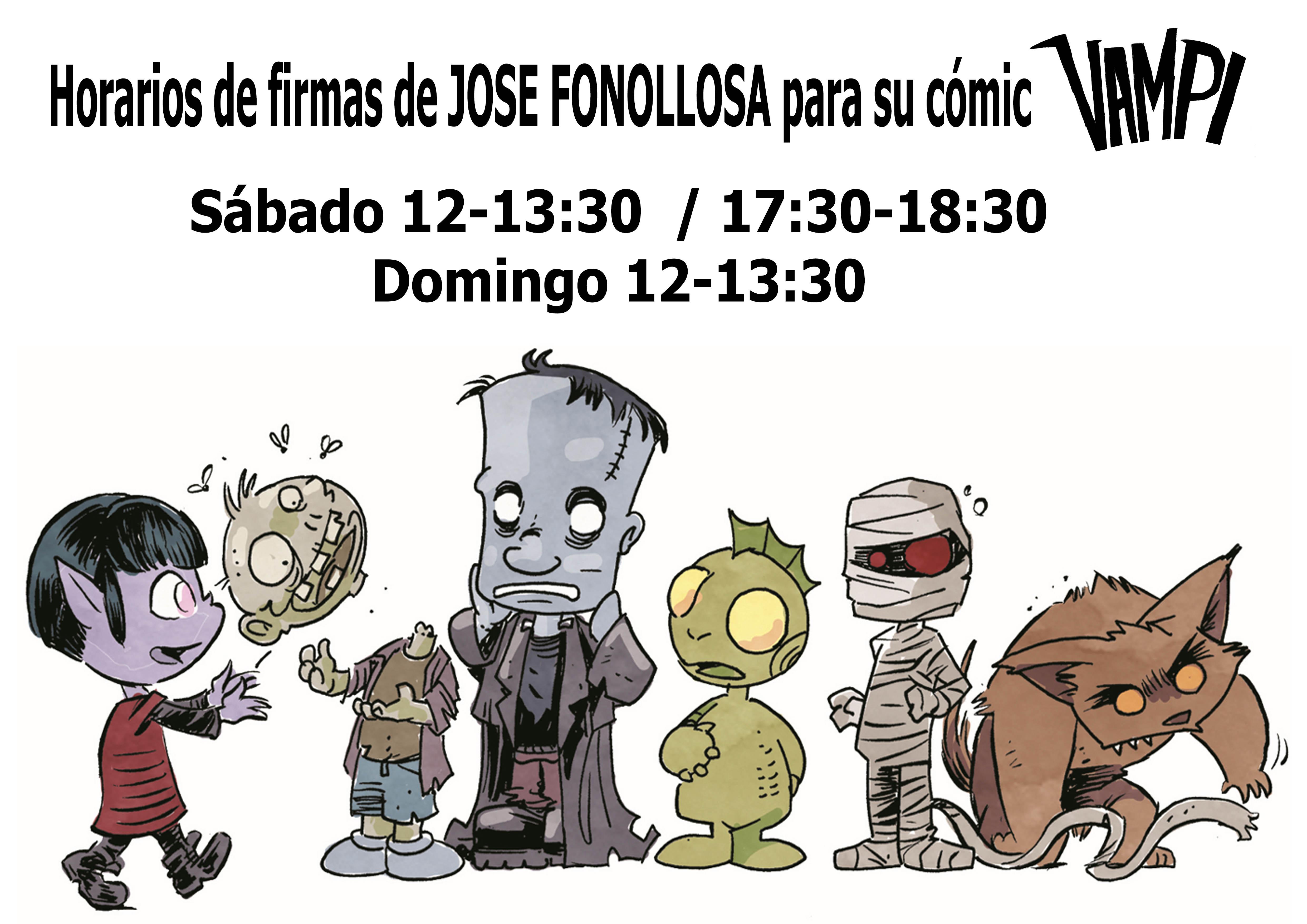 horarios firmas Jose Fonollosa Comic VAMPI