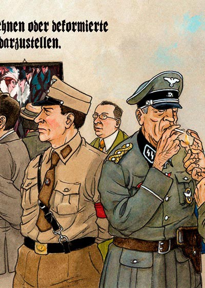 Auge del nazismo en el comic Mies del dibujante Agustín Ferrer Casas