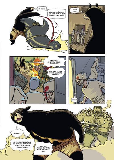 interior del cómic ORDINARY, tu mejor amigo se ha convertido en un oso