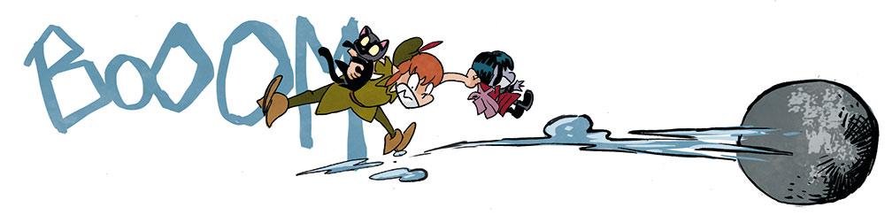 Peter Pan luchando contra el cápitan Garfio en el cómic VAMPI CUENTAME UN CUENTO.