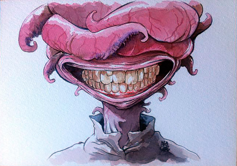 ilustración de Victor Araque para su cómic Buckson