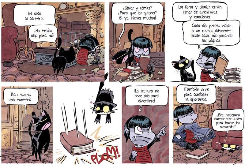 los comics son muy importantes para VAMPI, la niña vampiro