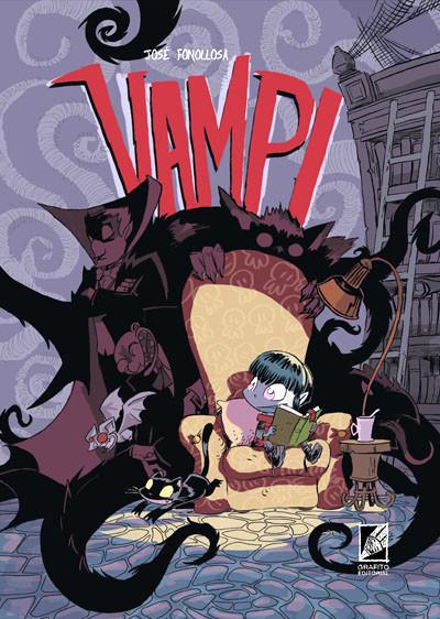 Portada de VAMPI, un cómic de José Fonollosa sobre niñas vampiro